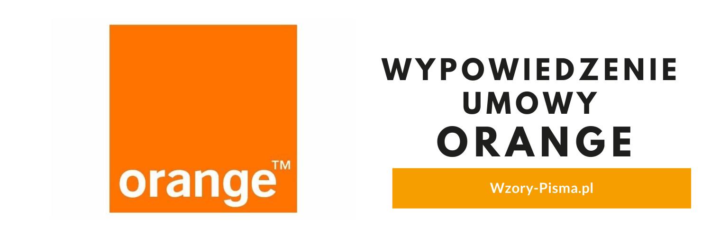Wypowiedzenie umowy Orange – Wzór PDF