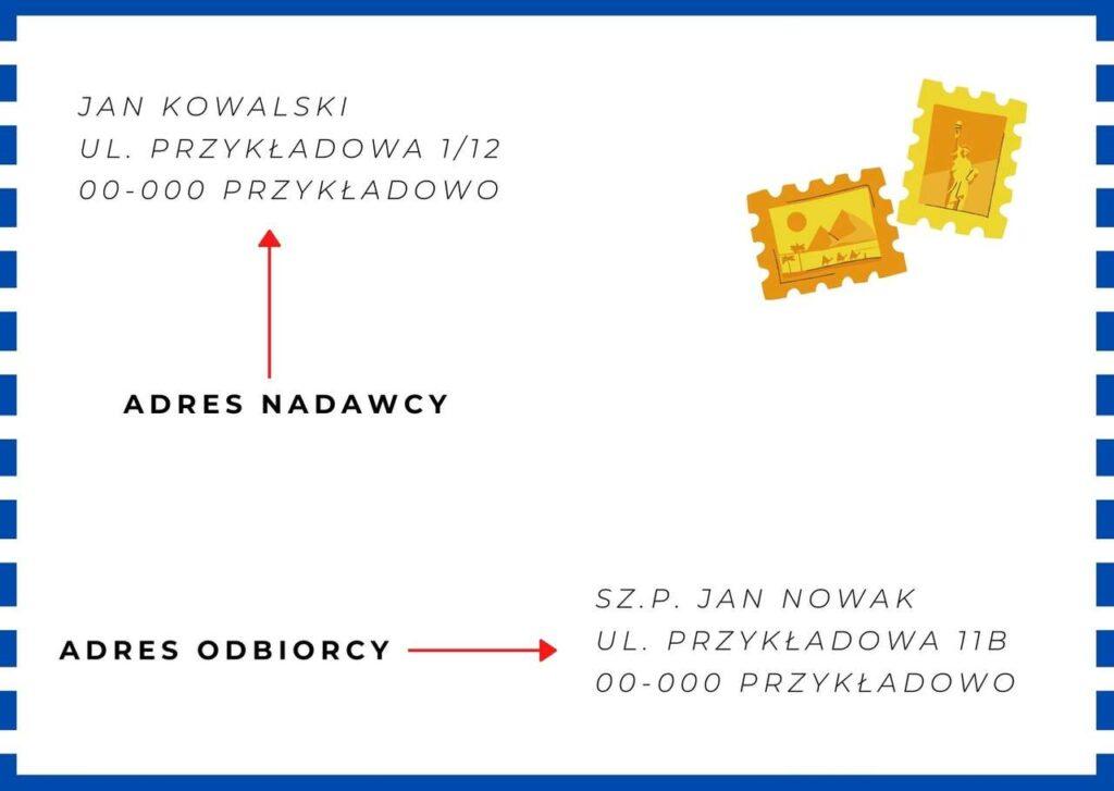 adresowanie koperty i listu